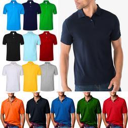 Men's Polo Shirt Dri-Fit Quick-Dry Golf Sports Tee Cotton Je