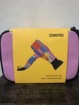 amika Mini Ionic Hair Blow Dryer 1200 Watts Pink FUN NEW WIT