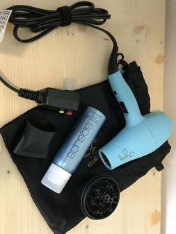 PYT Mini Turbo Travel On-the-Go Hair Blow Dryer Turquoise Te