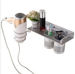 Multifunctional Hair Dryer Holder - Space Aluminum Spiral Ha