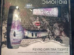 New Bio Ionic Street Art Blow Dryer Special Edition W Free
