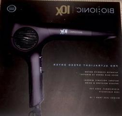 NIB-Bio Ionic 10X Ultralight Speed Hair Blow Dryer Black FRE