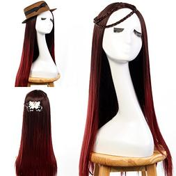 "Neverland Beauty 24"" Ombre Two Tone Synthetic Long Straight"