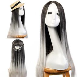 """Neverland Beauty 24"""" Ombre Two Tone Synthetic Long Straight"""