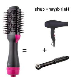 One Step Hair Blow Dryer Volumizer Straightener Curler Comb