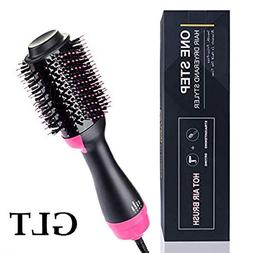 One-Step Hair Dryer&Volumizer,GLT Salon Hot Air Paddle Styli
