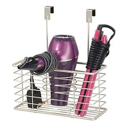 mDesign Bathroom Over The Door Hair Care & Styling Tool Orga