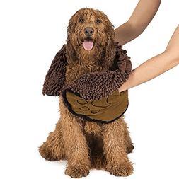 Pet Dog Towel With Hand Pockets Super Absorbent Microfiber B