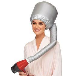 Portable Bonnet Hood Hair Drying Cap Hat Blow Hair Dryer Att