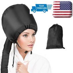 Portable Soft Hair Drying Cap Bonnet Hooded Hat Blow Dryer O