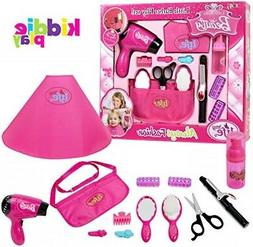Kiddie Play Pretend Play Girls Beauty Salon Fashion Toy Set