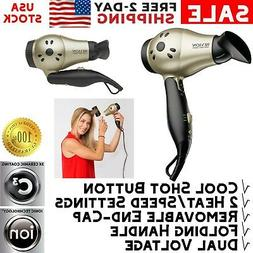 professional mini hair blow dryer ionic compact