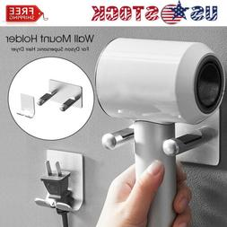 Punch free Hair Dryer Holder Wall Mount Blow Bracket for Dys