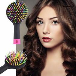 Rainbow Magic Hair Comb Brush Rainbow Volume Styling Tools A