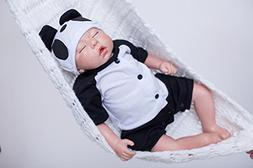 Reborn Baby Dolls Boy Silicone Newborn Eyes Closed Sleeping