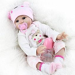 Seedollia Real Life Reborn Baby Doll Girl Silicone Open Blue
