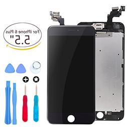 Screen Replacement for iPhone 6 plus Black 5.5 Inch LCD Disp