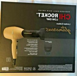CHI Rocket Pro Hair Blow Dryer Style Low EMF Limited Edition