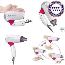 Vav Rotatable Folding Handle Hair Blow Dryer Lightweight Tra