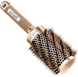 Upgrade BIBTIM Round Hair Brush Twill with Boar Bristle for
