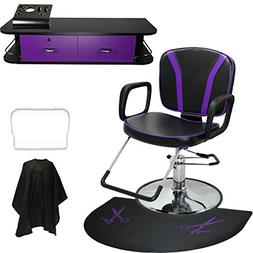LCL Beauty Salon Styling Station Package: Adjustable Hydraul