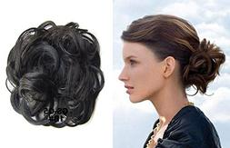 scrunchie synthetic hair bun