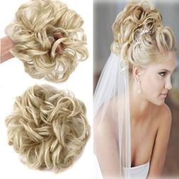 FIRSTLIKE Scrunchy Bun up Do Hair Chignons Hairpiece Ribbon