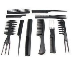 10Pcs/Set Salon Barber Hair Combs Kits Professional Hair Bru
