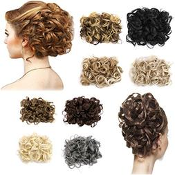 FIRSTLIKE Short Messy Curly Dish Hair Bun Extension Easy Str