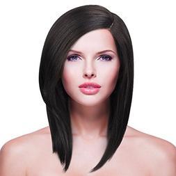 Shoulder Length Lace Front Wig for Women,L Part Short Bob Sy