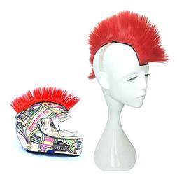 Namecute Skinhead Wig Red Helmet Mohawk Wig Costumes Hairpie