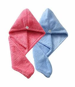Women's Soft Shower Hair Towel Super Absorbent Drying Hair C