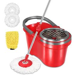 HAPINNEX Spin Wringer Mop Bucket Set - for Home Kitchen Floo