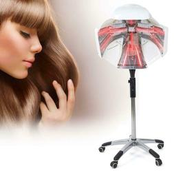 Standing Salon Hair Blow Dryer Bonnet Hood Rolling Stand Hai