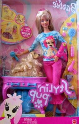 Stylin' Pup BARBIE Doll w Color Change Pup , Bath & More