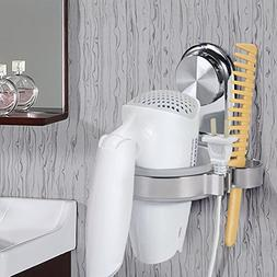 TOPINCN Hair Dryer Holder, Bathroom Wall Mounted Suction Cup
