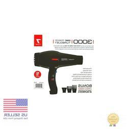 Tyche Professional Hair Dryer Turbo Jet 3000 Black 1 Year Wa