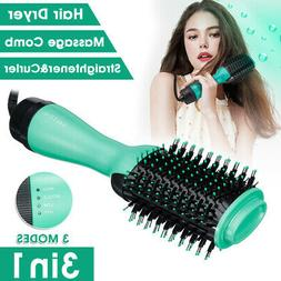 US 1200W 3 in 1 Hair Blow Dryer Brush Comb Hot Air Hairs Dry
