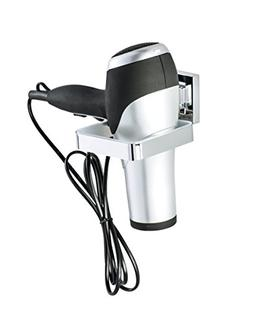 Wenko Vacuum-Loc Quadro Wall-Mounted Hair Dryer Holder, No D