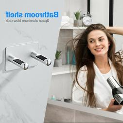 Wall Mount Blow Dryer Holder Bracket No Drilling Hanger Bath