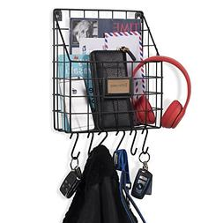 WALL35 Multipurpose Mail Organizer Wire Basket Wall Mounted