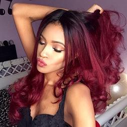 AISI HAIR Wavy Hair Wig Women's Wigs Ombre Dark Roots Synthe