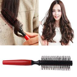 Wood Hairbrush Comb Bristle Round Blow Dryer Styling Hair Ro
